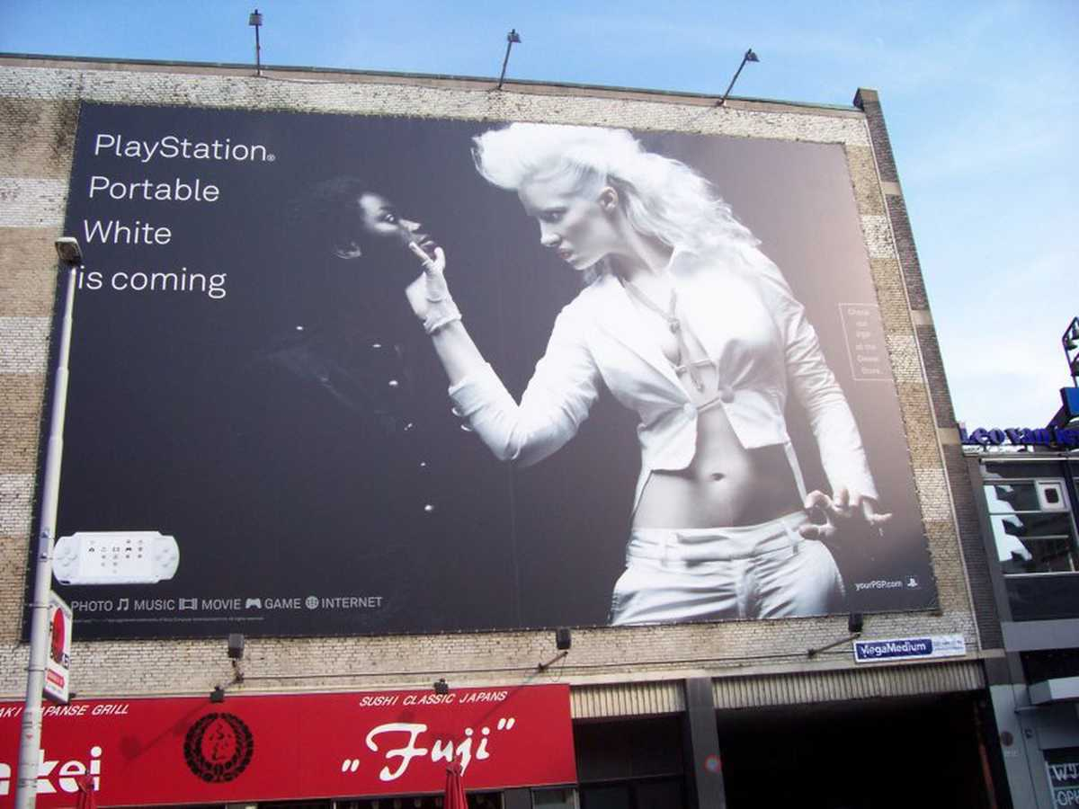 Playstation white advertising